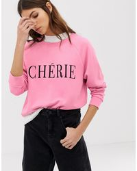 Whistles Cherie Embroidered Sweatshirt - Pink