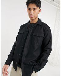 SELECTED Черная Рубашка Навыпуск С Двумя Карманами -черный Цвет