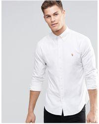 Polo Ralph Lauren – Schmal geschnittenes Oxford-Hemd - Weiß