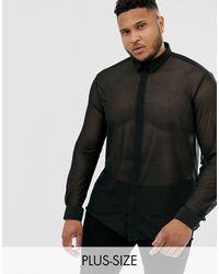 Twisted Tailor Chemise en tulle super ajustée - Noir