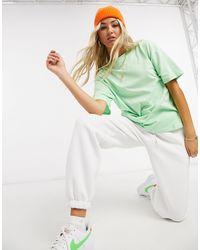 Nike Бледно-зеленая Футболка Бойфренда С Логотипом-галочкой -зеленый