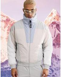 ASOS 4505 Ski Jacket With Pastel Colour Block - Multicolour