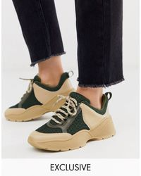 Monki Chunky Sneakers - Natural