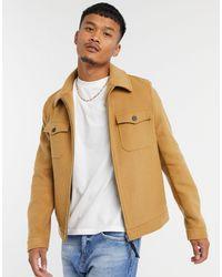 ASOS Camicia giacca harrington - Marrone