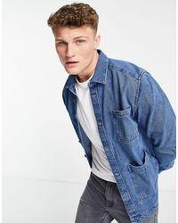 Only & Sons Utility Chalk Denim Jacket - Blue