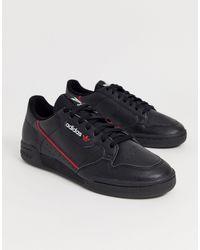 adidas 'Continental 80' Sneakers - Schwarz