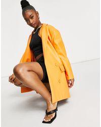 UNIQUE21 Pu Oversized Blazer - Orange