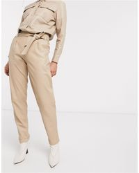 Goosecraft Tie Waist Leather Trousers - Natural