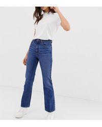 ASOS Asos Design Tall Egerton Rigid Cropped Flare Jeans - Blue