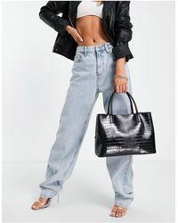 ASOS Workwear Tote Bag With Rose Gold Hardware - Black