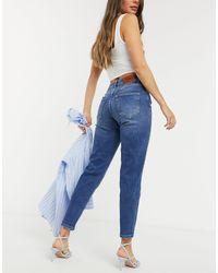 ONLY – Veneda – Mom-Jeans - Blau