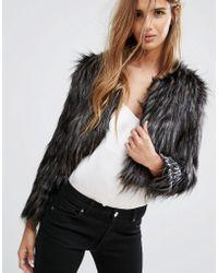 Urban Bliss - Faux Fur Jacket - Lyst