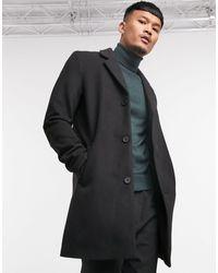 Jack & Jones Черное Пальто Originals-черный
