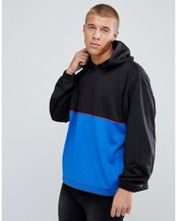 ASOS DESIGN - Asos Oversized Polytricot Hoodie With Colour Blocking - Lyst