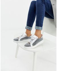 Ted Baker - Silver Sparkle Trainers - Lyst
