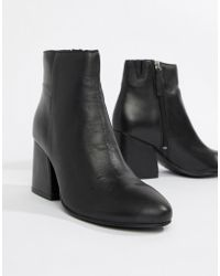 Pull&Bear - High Heeled Leather Boot - Lyst
