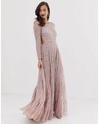 ASOS - Платье Макси С Отделкой Камнями -розовый - Lyst