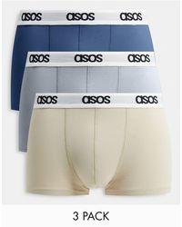 ASOS Комплект Из 3 Коротких Боксеров-брифов - Многоцветный