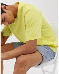 Weekday - Frank T-shirt In Yellow - Lyst