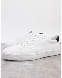 Pull&Bear Белые Кроссовки Со Вставкой На Заднике -белый