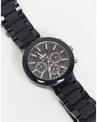 Lacoste Borneo Mens Round Metal Watch - Black