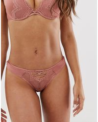 Ann Summers Claudia Thong In Beige - Natural