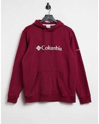 Columbia Красный Худи С Логотипом Csc Basic