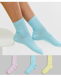 ASOS 3 Pack Ankle Sock - Multicolour