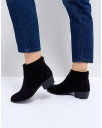 New Look Classic Suedette Western Boot - Black
