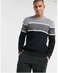 River Island Knitted Sweater - Gray