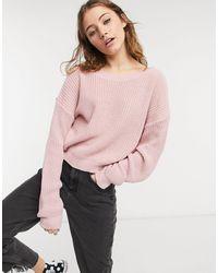 In The Style Розовый Джемпер Со Спущенными Плечами Plus X Jac Jossa