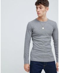 Esprit - Organic Cotton Muscle Fit Ribbed Long Sleeve Top - Lyst