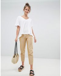 Pull&Bear - Striped Peg Leg Pants - Lyst