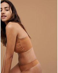 2d57e53b38ea4 Lyst - Nubian Skin  essential  Underwire T-shirt Bra in Natural