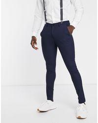 SELECTED Skinny-fit Pantalon - Blauw