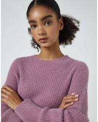Pull&Bear Maglione girocollo color lampone - Rosa