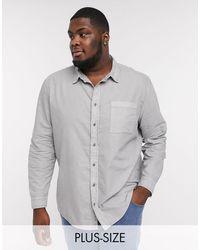 River Island Big & Tall Long Sleeve Shirt - Grey