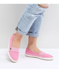 Lacoste - Maurice 218 Slip On Espadrille In Pink - Lyst