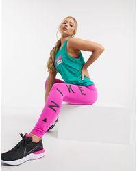 Nike - Розовые Леггинсы До Щиколотки Icon Clash-розовый - Lyst