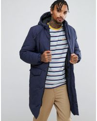 ASOS - Design Heavyweight Parka In Navy - Lyst
