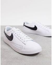Nike - Черно-белые Низкие Кроссовки Blazer-черный Цвет - Lyst