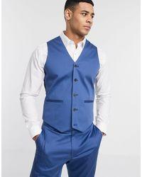 ASOS Wedding - Gilet da abito skinny - Blu