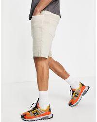 Bershka Super Skinny Denim Shorts - White