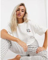 TOPSHOP Truly yours - Ensemble pyjama - Blanc