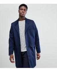Noak - Cotton Duster Coat In Navy - Lyst