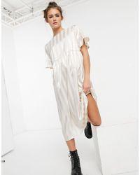 Lola May Long Smock Dress - White