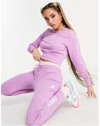 Nike Air Cropped Fleece Sweatshirt - Purple