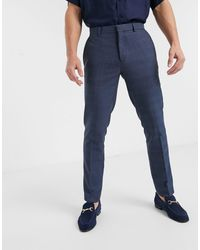Burton Slim Smart Trousers - Blue