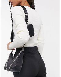 Steve Madden Bvital Crossbody Bag With Chain Strap - Black