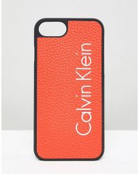 Calvin Klein Logo Iphone 7 Case - Orange